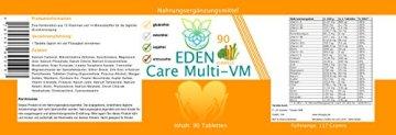 VITARAGNA Eden Care Multi-VM Komplex 90 Tabletten, Tagesdosis Multivitamine & Mineralstoffe, vegan, 3-Monatsration, B Komplex hochdosiert + Magnesium, Zink und Vitamin-D - 2