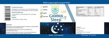 VITARAGNA Gamma Sleep GABA 120 Kapseln Schlaf-Optimierer mit Gamma-Aminobuttersäure, Durchschlafen ohne Schlaftabletten, Relax & Entspannung, Anti-Stress, Ruhe & Regeneration - 2