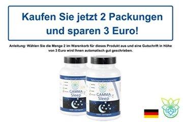 VITARAGNA Gamma Sleep GABA 120 Kapseln Schlaf-Optimierer mit Gamma-Aminobuttersäure, Durchschlafen ohne Schlaftabletten, Relax & Entspannung, Anti-Stress, Ruhe & Regeneration - 5