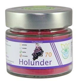 VITARAGNA Holunder Fruchtpulver 70 vegan, Qualitätsprodukt mit reinem Holunder-Fruchtextrakt, Holunderbeer-Extrakt, ohne Zusätze - 1