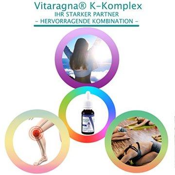 VITARAGNA Vitamin K2 Basic Tropfen flüssig, K1 und K2 - Menaquinon MK7, hochdosiertes Liquid in MCT-Öl gelöst und bioaktiver MK-7-Form 20ml mit 500 mcg K-Komplex x 30 Portionen - 7