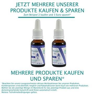VITARAGNA Vitamin K2 Forte Tropfen flüssig, K1 und K2 - Menaquinon MK7, hochdosiertes Liquid in MCT-Öl gelöst und bioaktiver MK-7-Form, 20 ml - 6