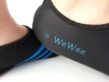 WeWee Die gesunden Allround-Barfußschuhe von Vielseitig einsetzbare Minimalschuhe aus Neopren im modernen Alltagslook (42-43, Blau) - 2