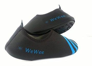 WeWee Die gesunden Allround-Barfußschuhe von Vielseitig einsetzbare Minimalschuhe aus Neopren im modernen Alltagslook (42-43, Blau) - 7