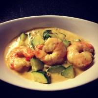 Curry de Courgettes et Crevettes