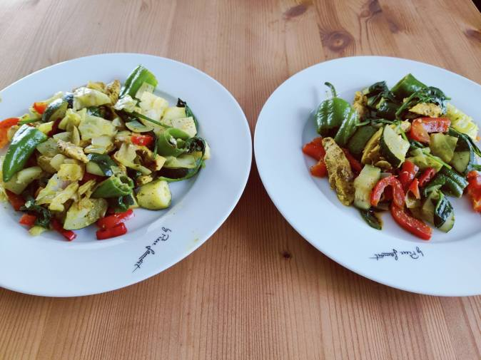 Daržovių troškinys su vištiena