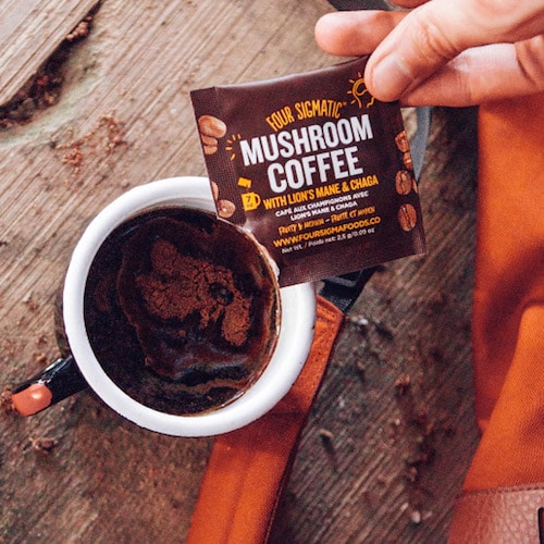 Mushroom Coffee with Lion's Mane & Chaga - Four Sigmatic - Certified Paleo, PaleoVegan, KETO Certified - Paleo Foundation