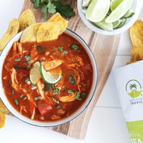 Tortilla Soup with Plantain Chips - Artisan Tropic - Certified Paleo, Paleo Vegan - Paleo Foundation