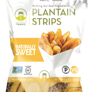 naturally sweet plantain chips 4.5oz certified paleo artisan tropic