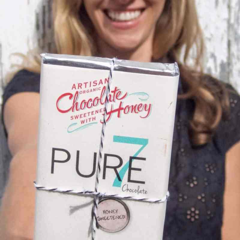 Artisan Organic Certified Paleo Honey Sweetened Chocolate from Pure7 Chocolate