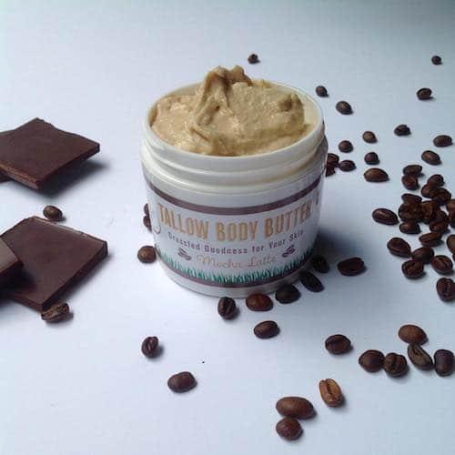 BODY BUTTER - Mocha Latte - Patchouli & Lime - Buffalo Gal Grassfed Beauty - Certified Paleo - Paleo Foundation
