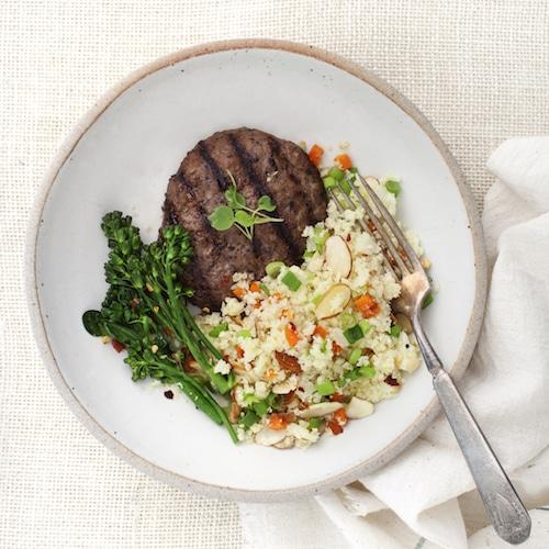 Cauliflower Rice - Tribalí Foods Organic 100% Grass-fed Beef - Certified Paleo - Paleo Foundation