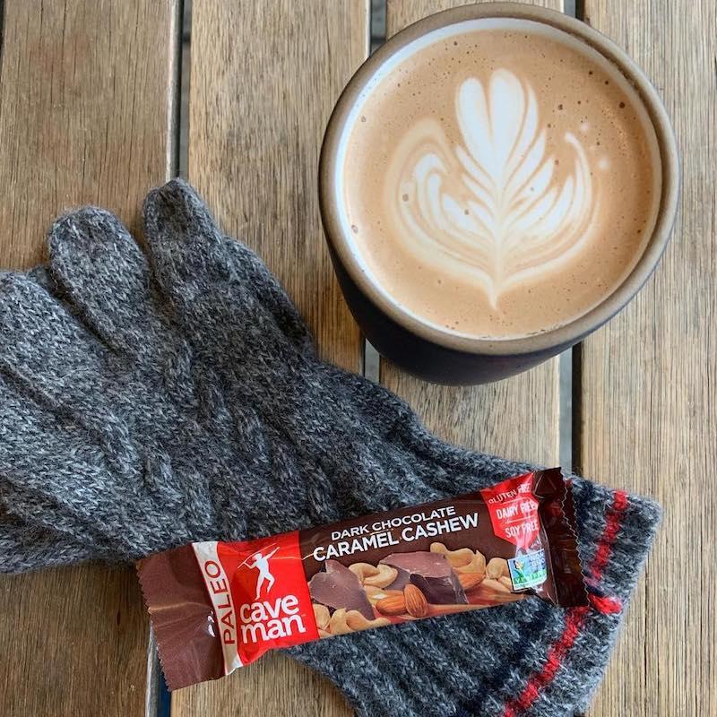 Dark Chocolate Cashew Almond Nutrition Bars - Caveman Foods - Certified Paleo Friendly by the Paleo Foundation