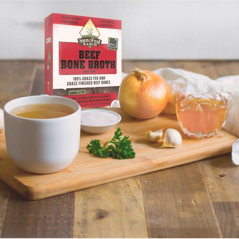 Beef Bone Broth - SunFed Ranch - Certified Paleo by the Paleo Foundation