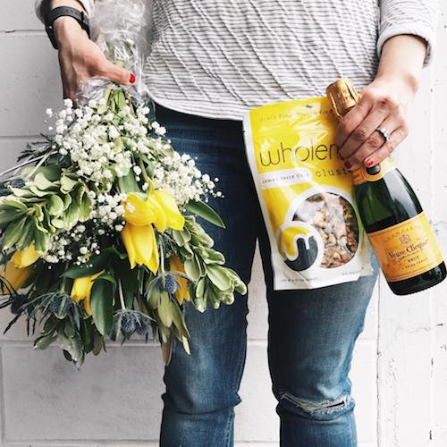 Flowers with WholeMe Lemon Berry Chia Clusters - WholeMe - Certified Paleo - Paleo Foundation