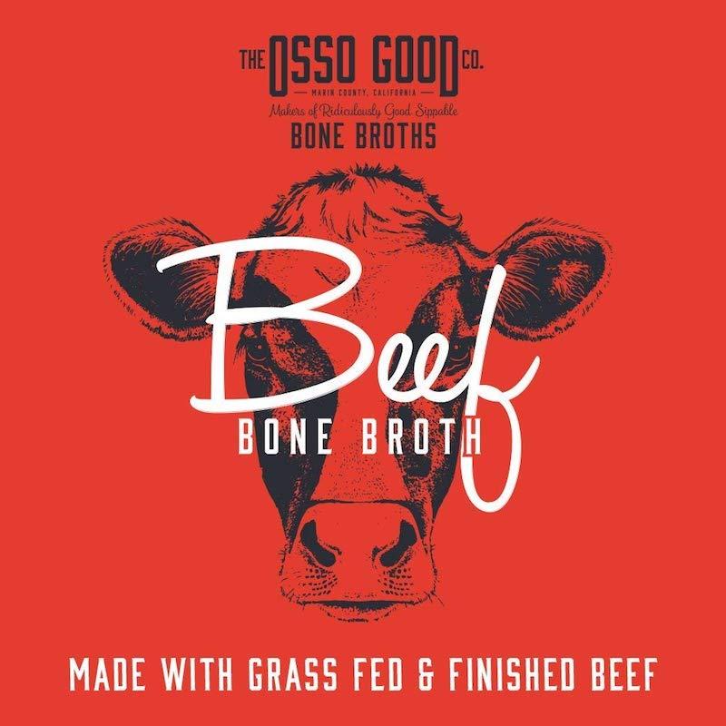 Organic, Antibiotic Free Grassfed Beef Bone Broth Certified Paleo Certified Grain Free Gluten Free Whole30