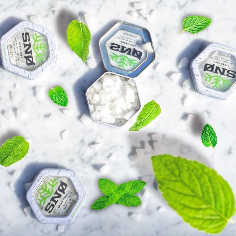 Spearmint - Snowflakes Candy - Paleo Friendly, KETO Certified by the Paleo Foundation