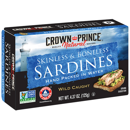 Natural Skinless & Boneless Sardines in Water - Crown Prince Seafood - Certified Paleo - Paleo Foundation