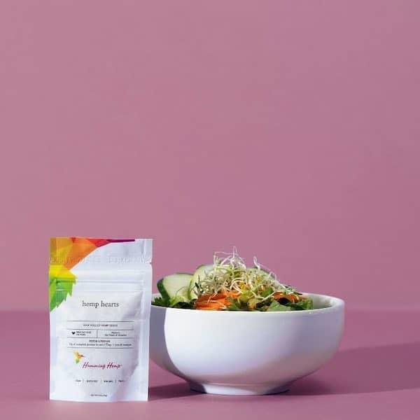 healthy hemp heart salad
