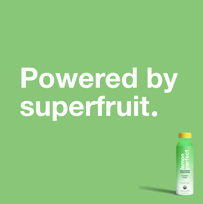 Powered by superfruit lemon perfect