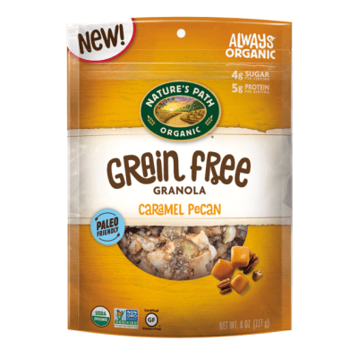 Caramel Pecan Grain Free Granola - Nature's Path Foods - Paleo Friendly, KETO Certified - Paleo Foundation