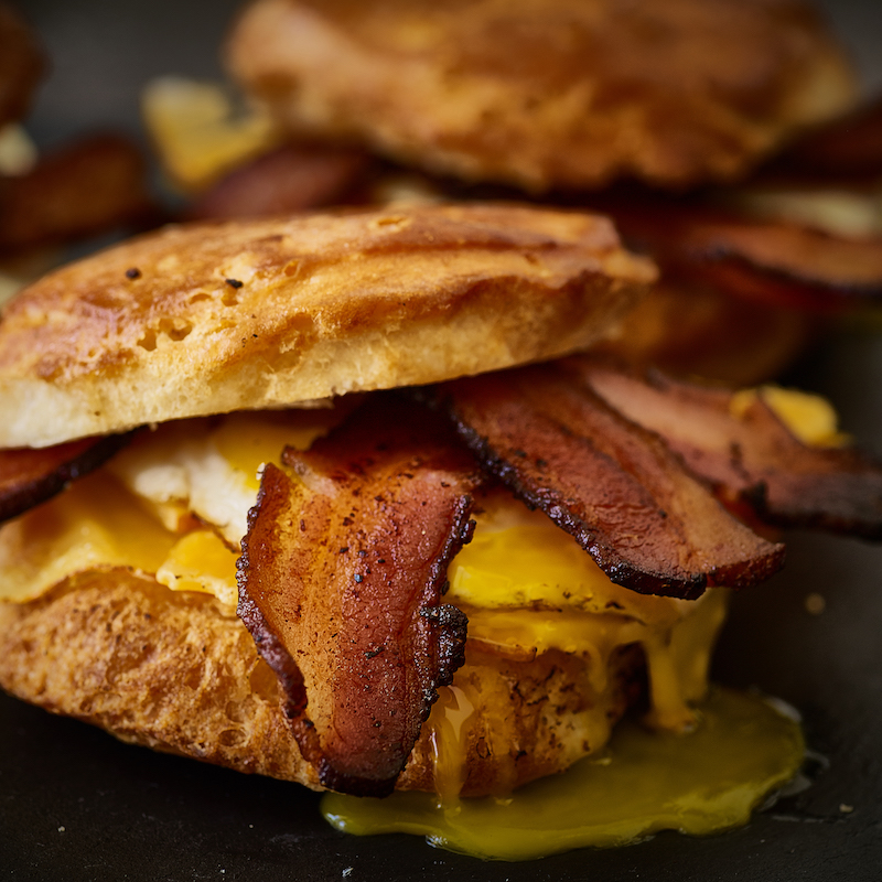 No Sugar Dry-Rub Uncured Bacon on Biscuit 2 - Tender Belly - Certified Paleo, KETO Certified - Paleo Foundation