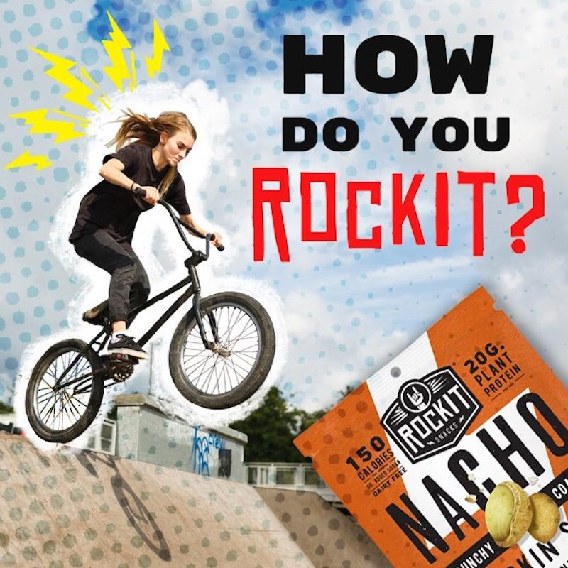 BMX Girl with Nacho Pumpkin Seeds - RockIt Snacks - Certified Paleo, KETO Certified, Grain Free:Gluten Free Certified, PaleoVegan - Paleo Foundation