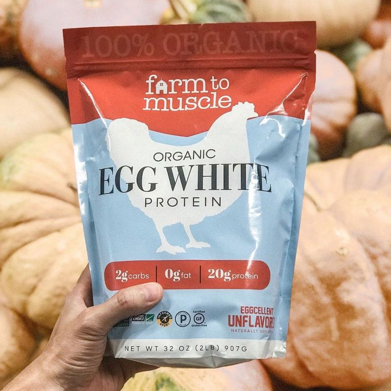 Organic Unflavored Egg White Protein - Farm to Muscle - Certified Paleo by the Paleo Foundation