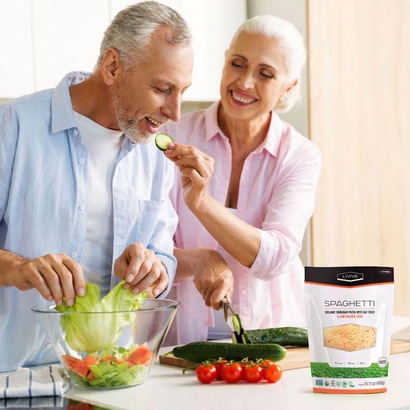 Organic Shirataki Spaghetti with Oat Fiber - Liviva Foods - KETO Certified by the Paleo Foundation