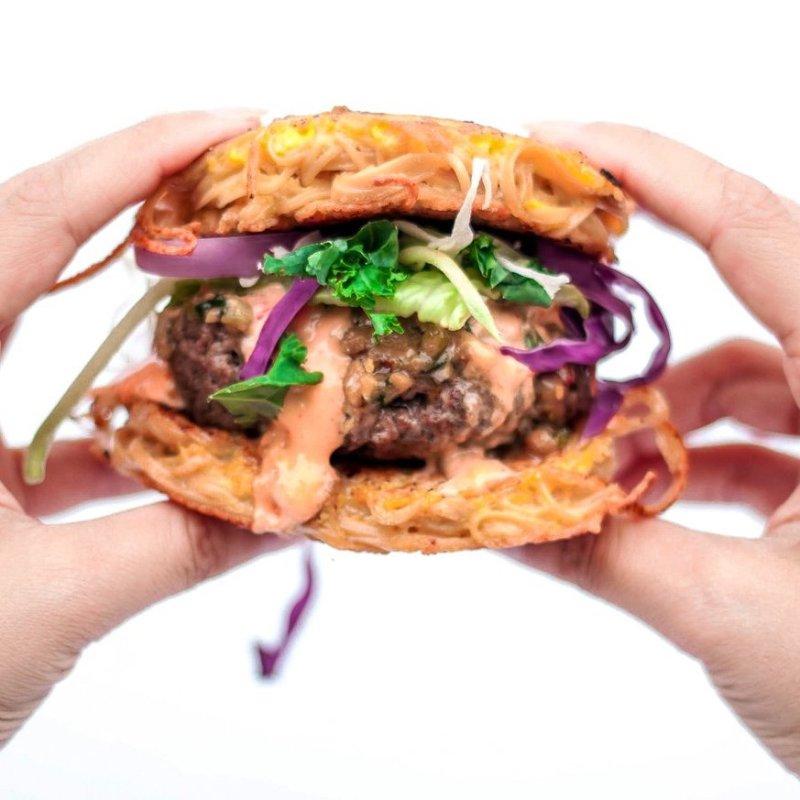 The Ramen Burger - Liviva Foods - KETO Certified by the Paleo Foundation