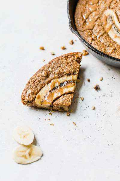 Paleo Skillet Banana Bread