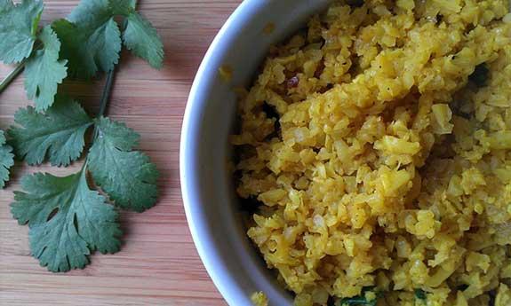 indian style cauliflower rice