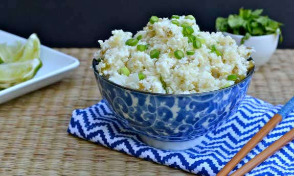 spicy ginger cauliflower rice