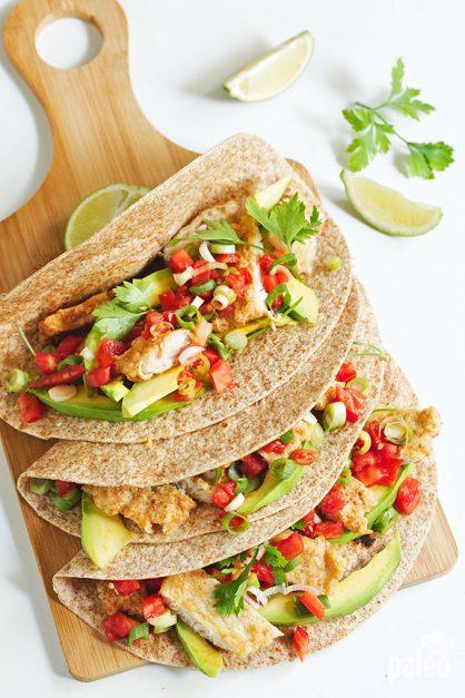 Paleo Fish Tacos with Homemade Tortillas - Paleo Grubs