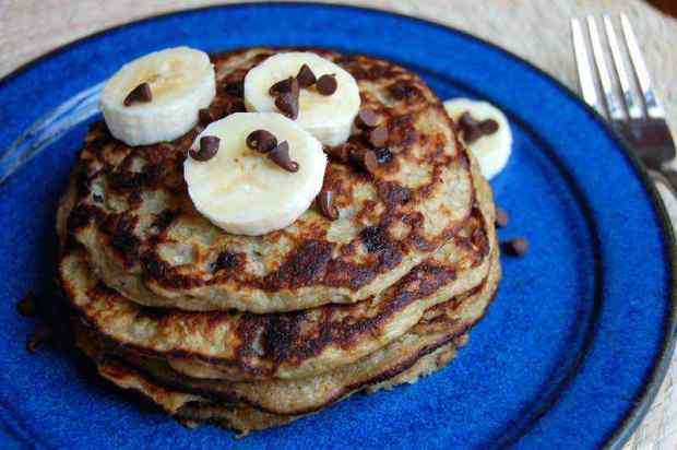 Banana Chocolate Chip Paleo Pancake Recipe
