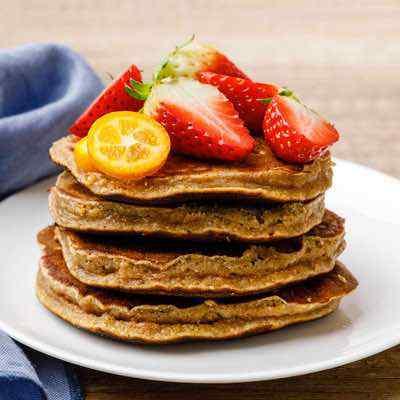 Coconut Flour Banana Nut Protein Pancakes