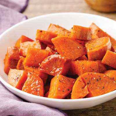 Easy Glazed Baked Sweet Potatoes