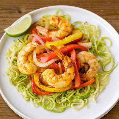 Easy Sheet Pan Shrimp with Zucchini Noodles