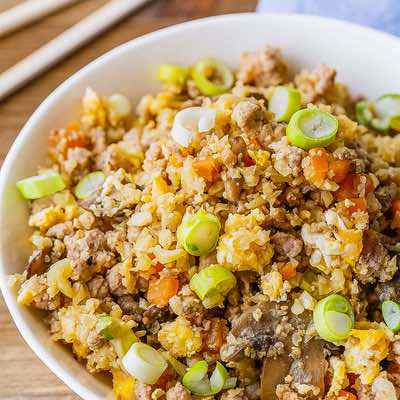 Paleo Pork Fried Cauliflower Rice