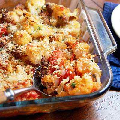 Sausage and Cauliflower Casserole