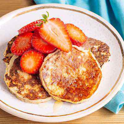 The Best Paleo Banana Pancakes with Fresh Strawberries