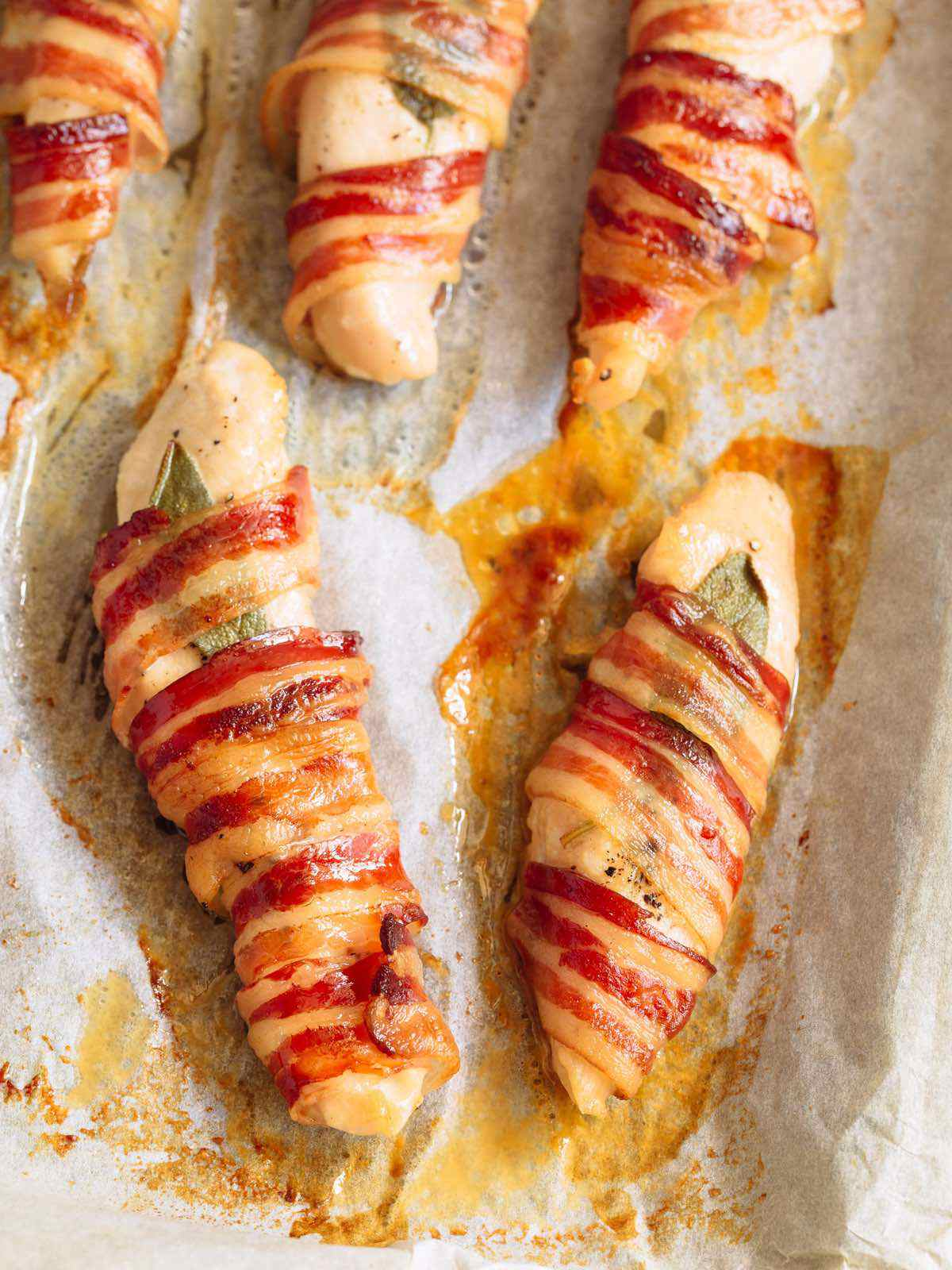 Paleo Bacon Wrapped Chicken Breast