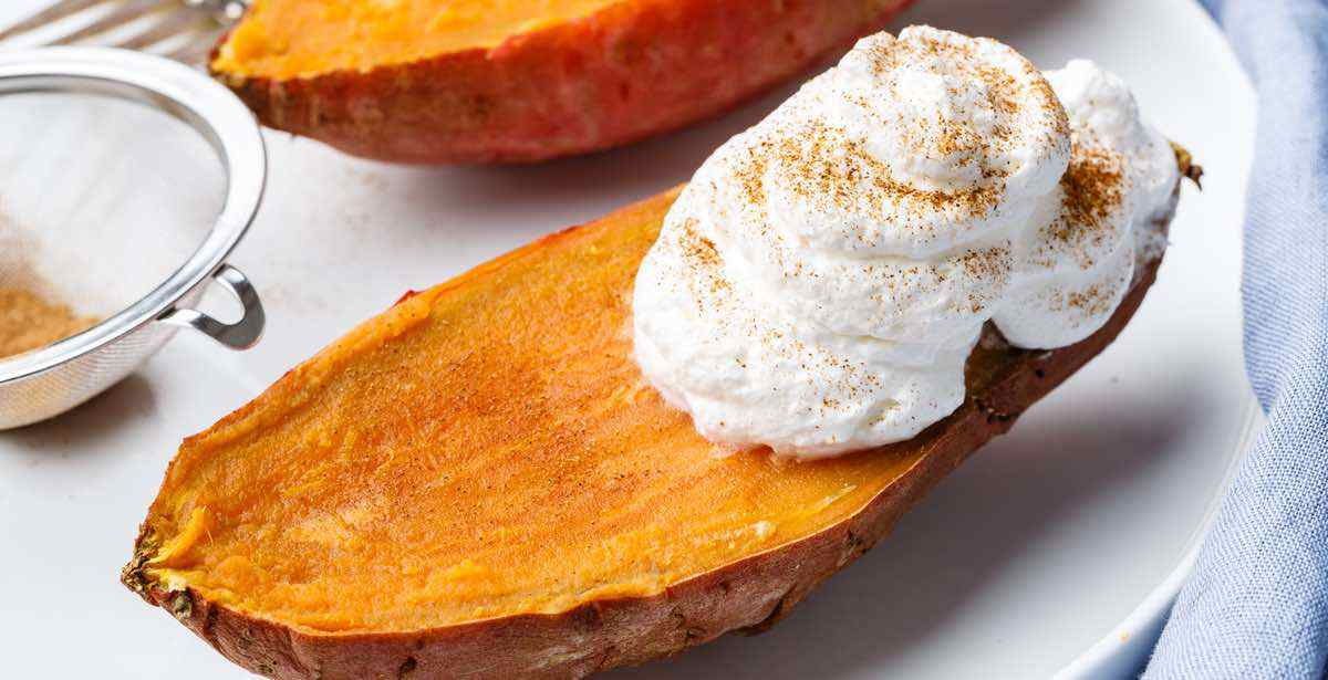 how to microwave the best sweet potato of your life recipe