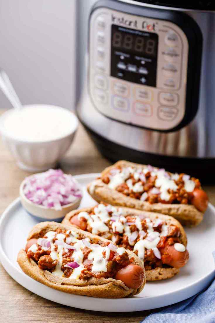 Instant Pot Chili Dogs