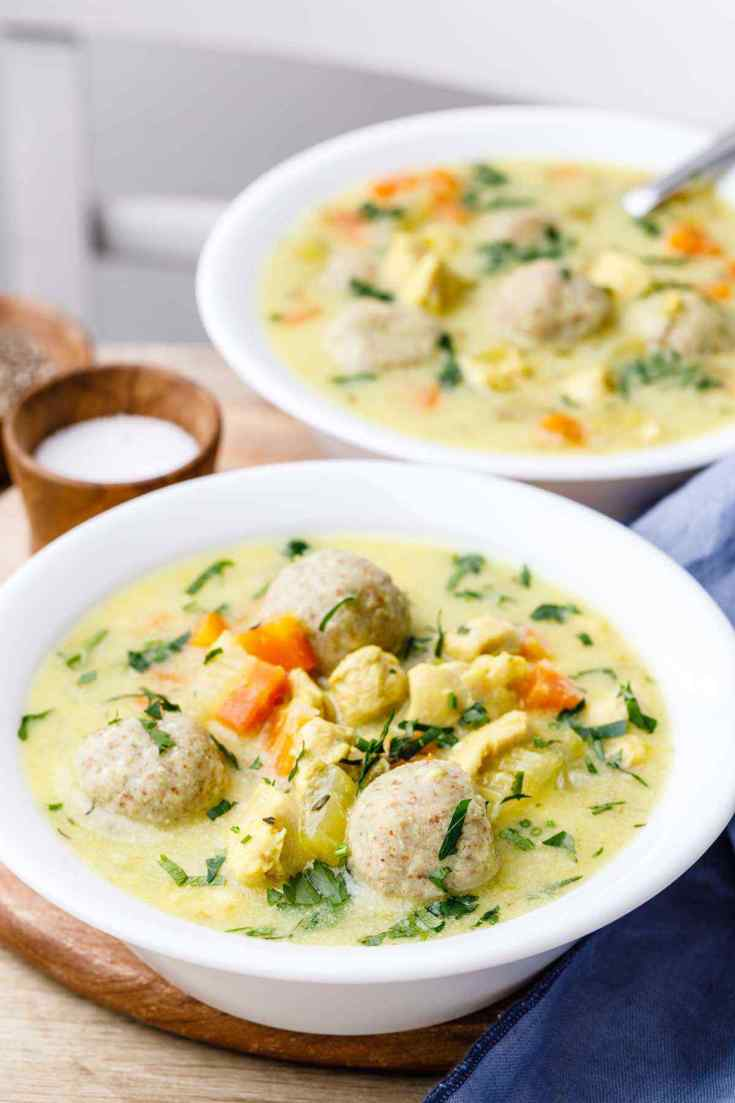 Paleo Chicken and Dumpling Soup