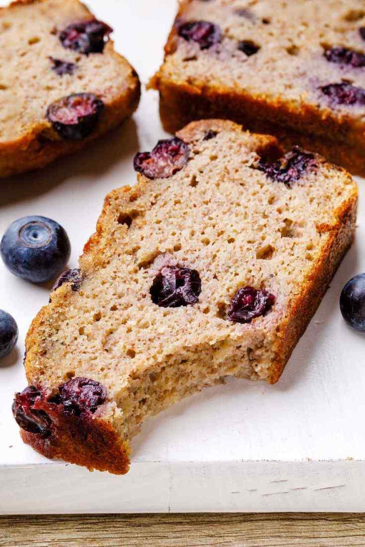 Paleo Blueberry Banana Bread