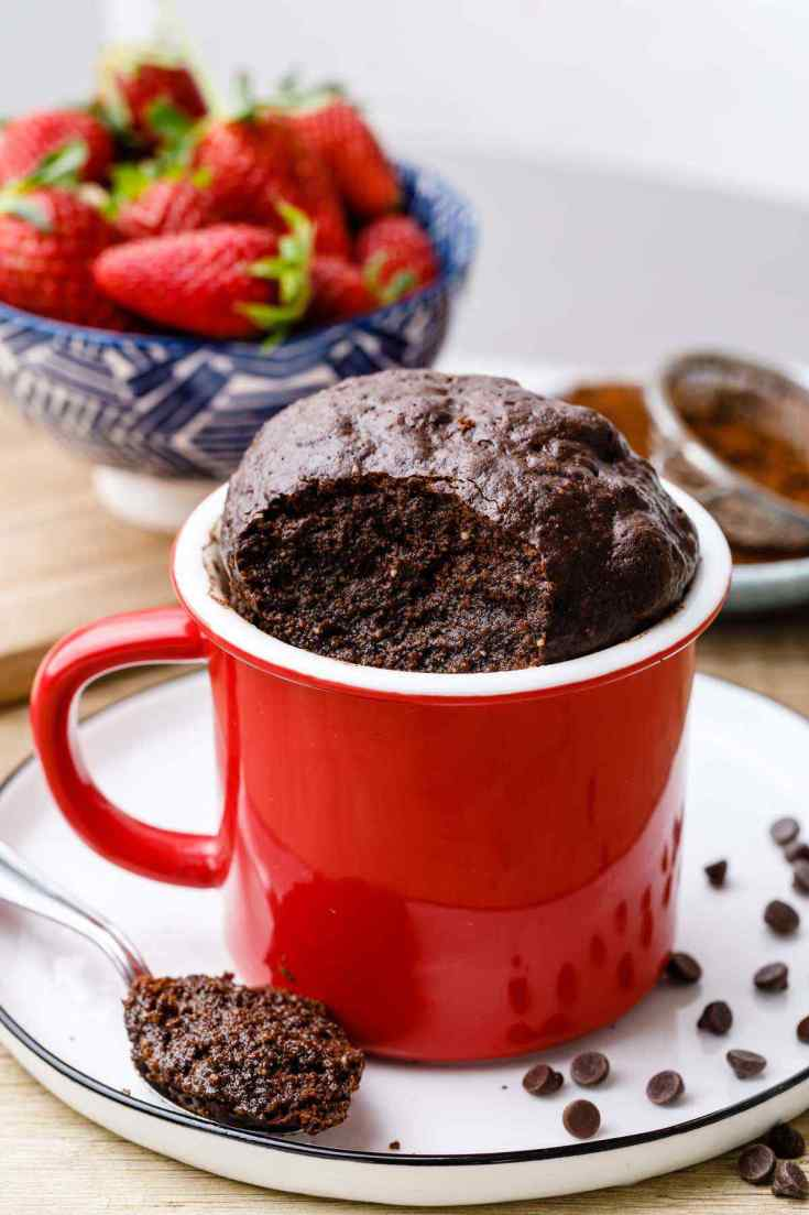 Fudgy Paleo Brownie in a Mug