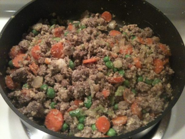 Fried rice in the making