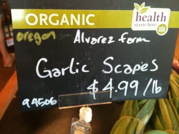 Local garlic scapes