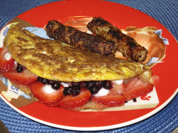 Red, White and Blue Omelet